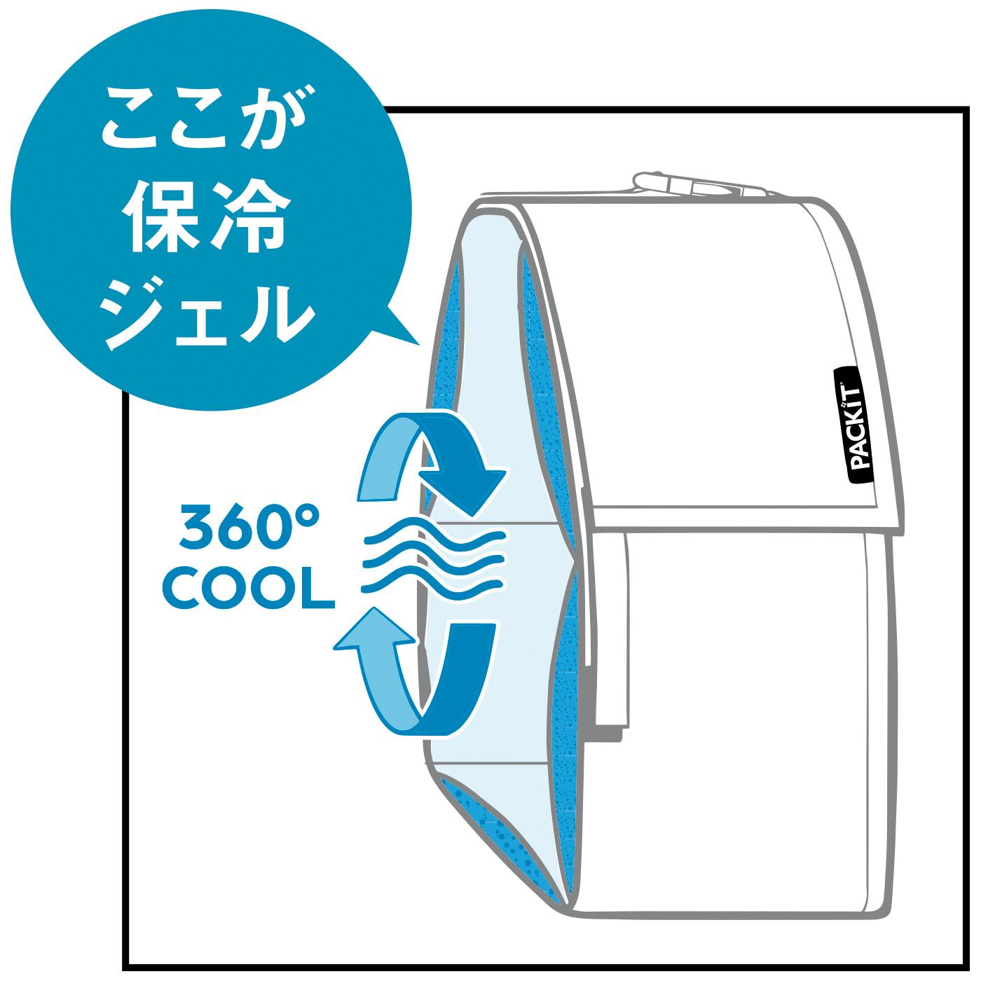 裏地の保冷剤でバッグ内を保冷!