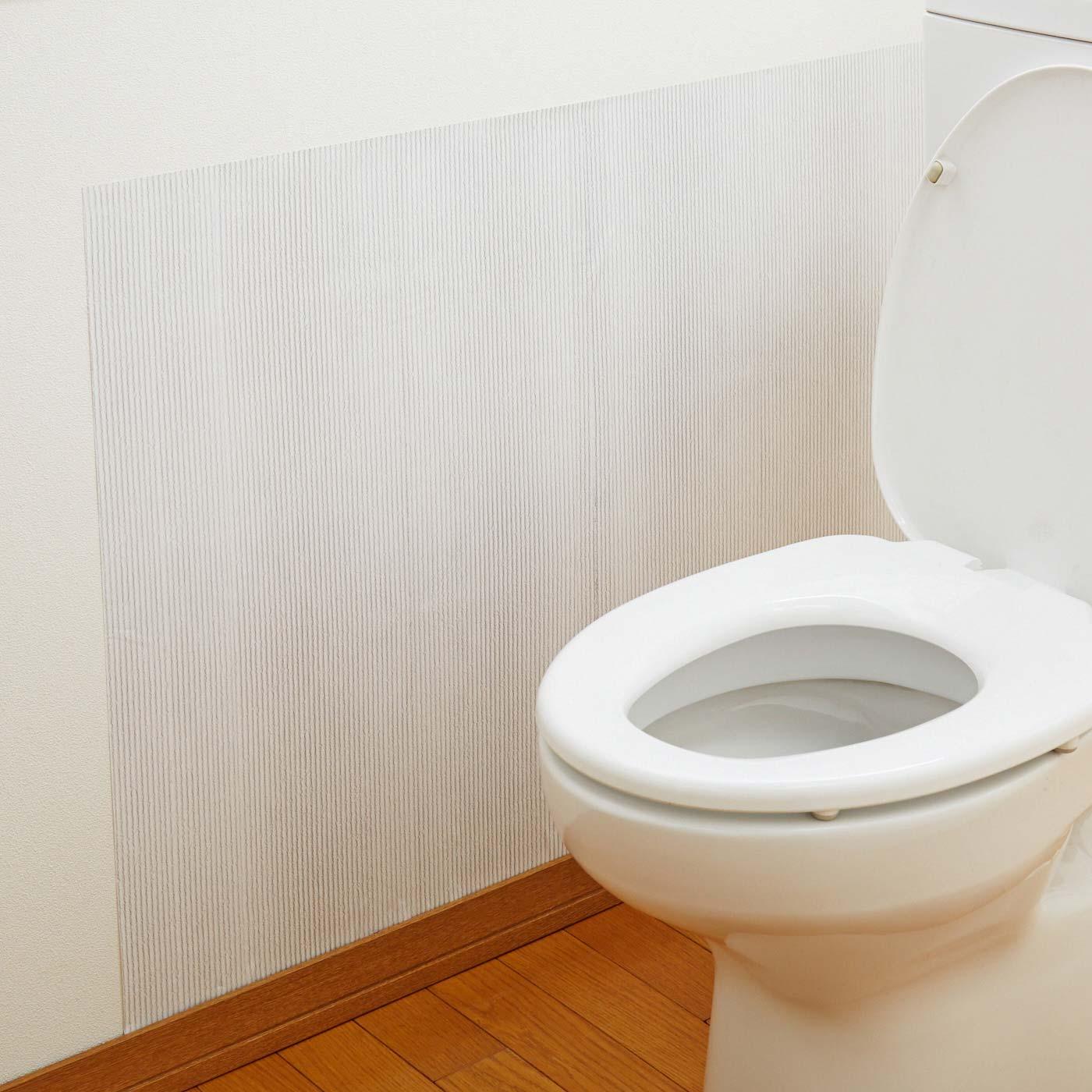 トイレで使用すれば、水滴の飛び散りをガードできます。