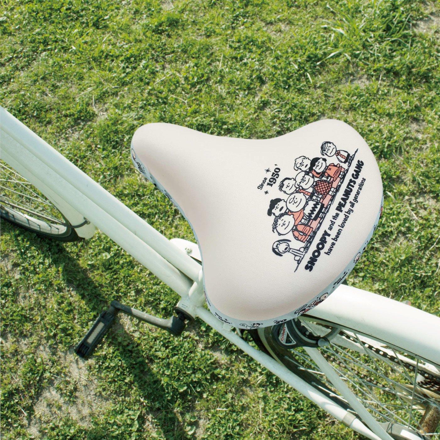 自転車サドルカバー チャリキャップ スヌーピー70周年