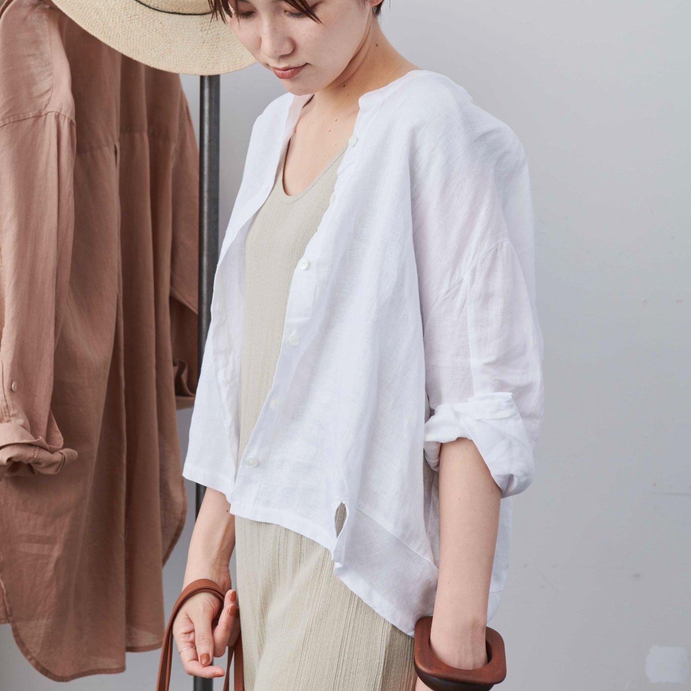 MEDE19F 〈SELECT〉 リネンショートシャツジャケット