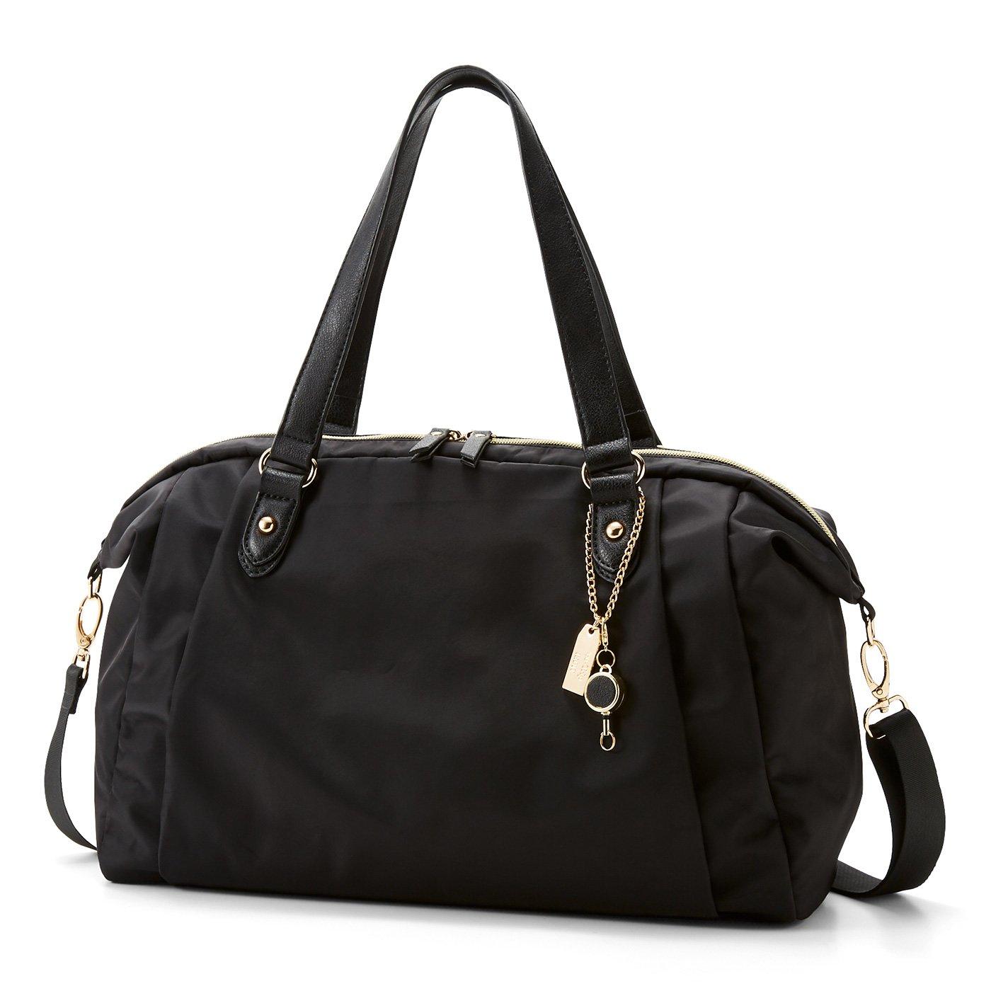 IEDIT[イディット] ことりっぷとコラボ 旅のプロのアイデアを詰め込んだ軽量バッグ〈ブラック〉