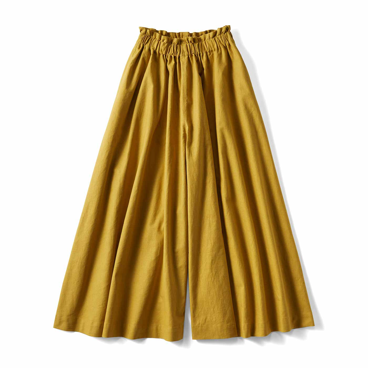 スカートみたいなガウチョパンツ〈マスタード〉