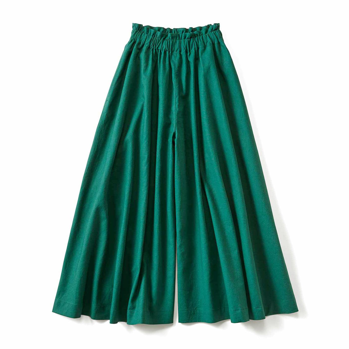 スカートみたいなガウチョパンツ〈グリーン〉