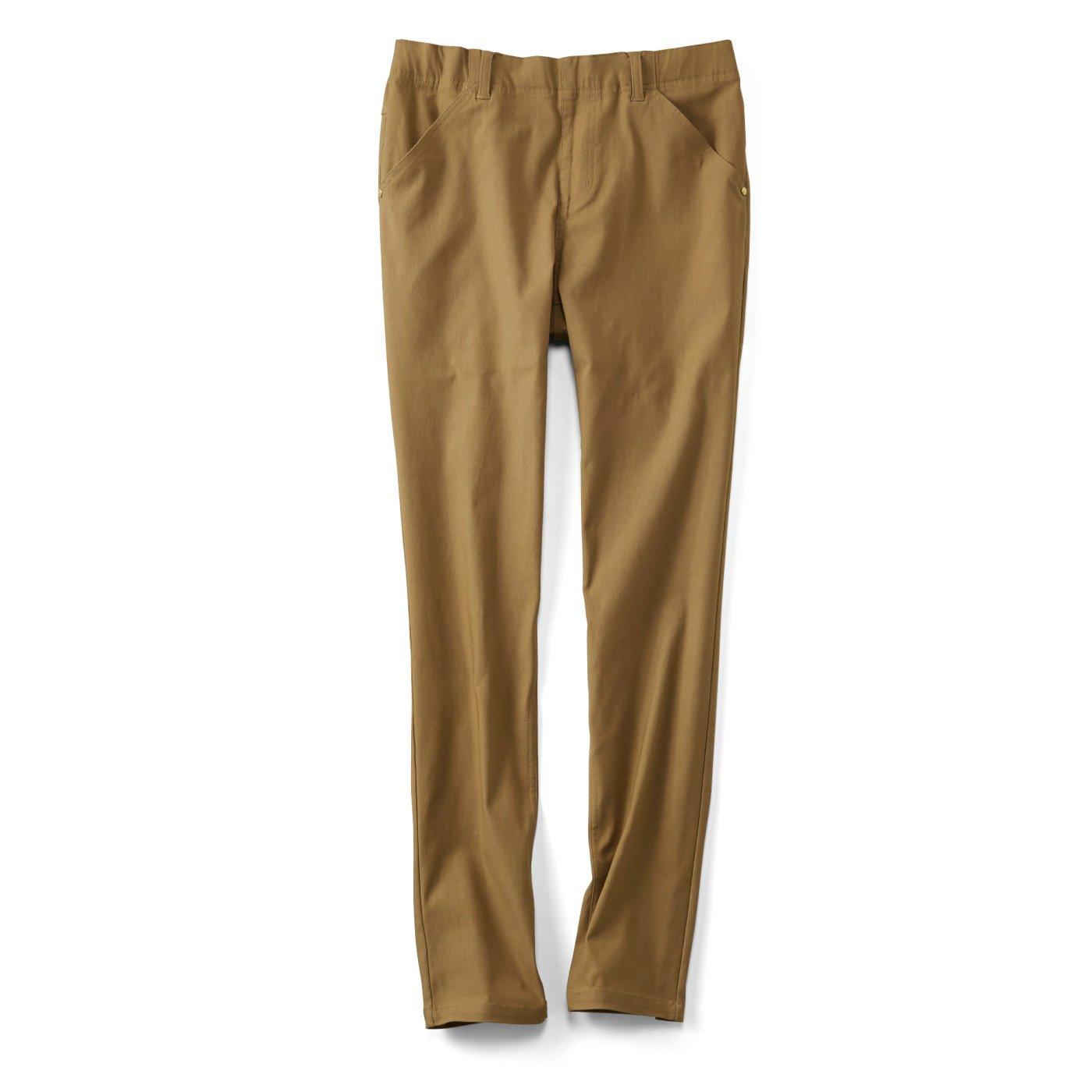 リブ イン コンフォート まるではいてないみたい!? 絶対美脚なスーパー伸び軽パンツ〈キャメル〉