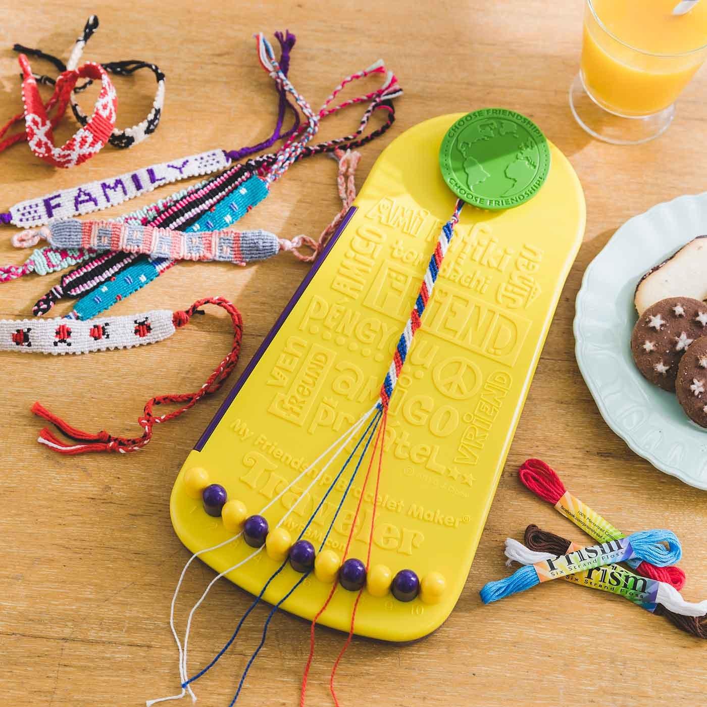 子どもと一緒に作ろう! ミサンガが作れるツールと糸のセット