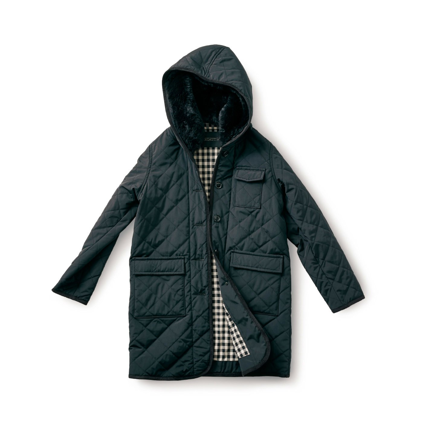 SUNNY CLOUDS 漆黒のキルトコート〈レディース〉