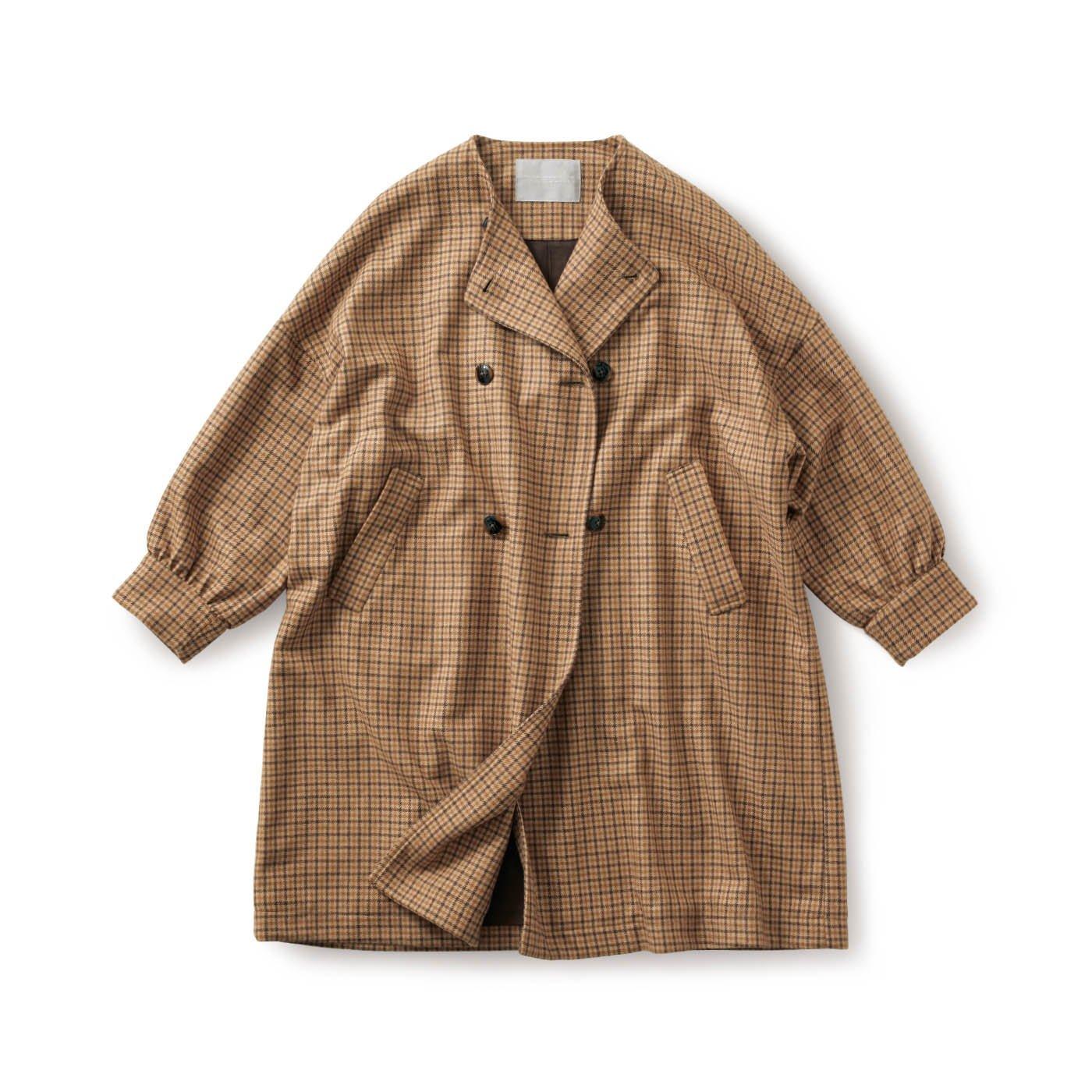 SUNNY CLOUDS トラッドチェックのコート〈レディース〉