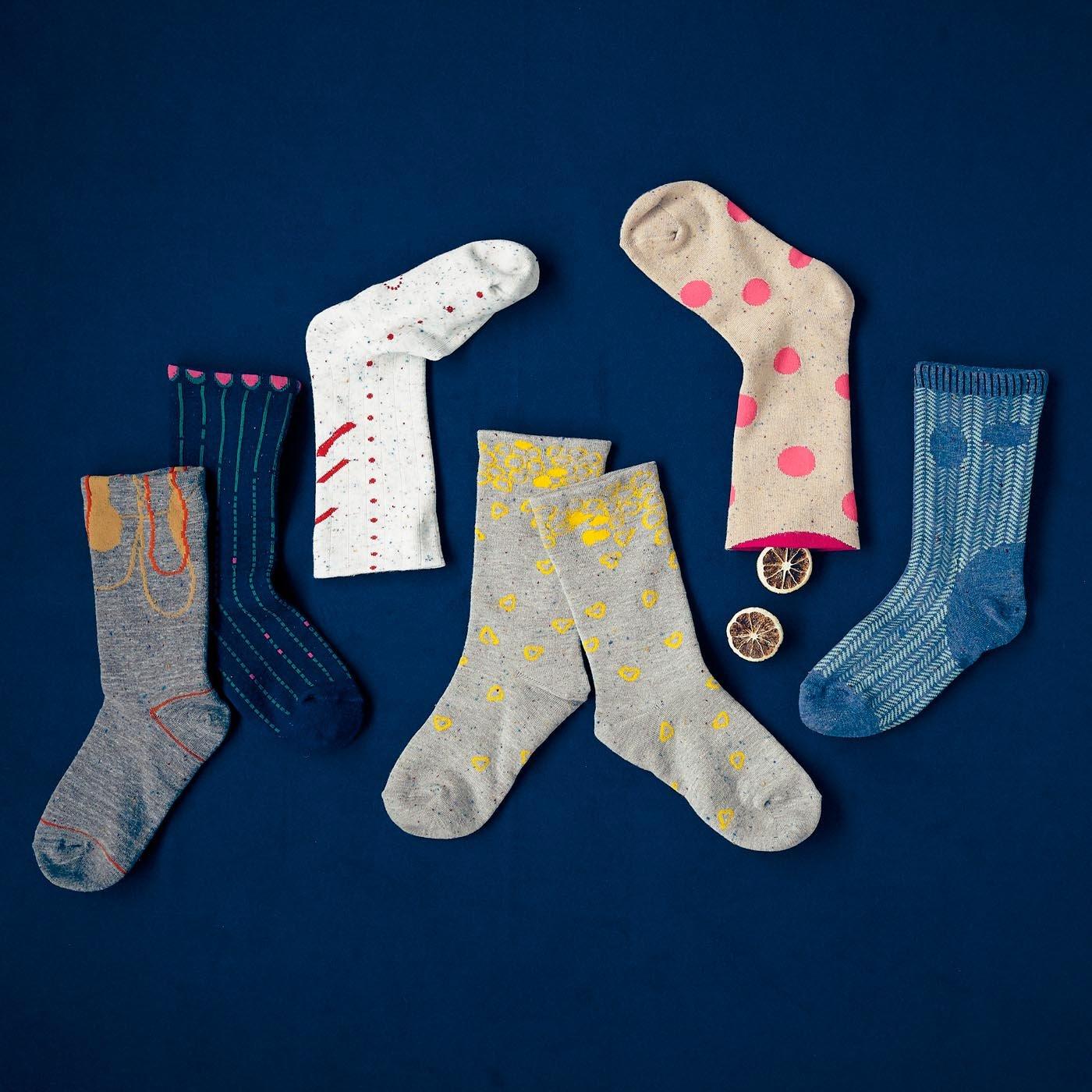 テキスタイルデザイナー 伊藤尚美さんと作った 足もとを今日の色柄で彩る 裏地シルクのゆるさら靴下の会