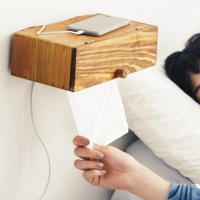 取り付け簡単 小物もちょい置きできる壁付けティッシュボックスの会 フェリシモ FELISSIMO【送料無料】