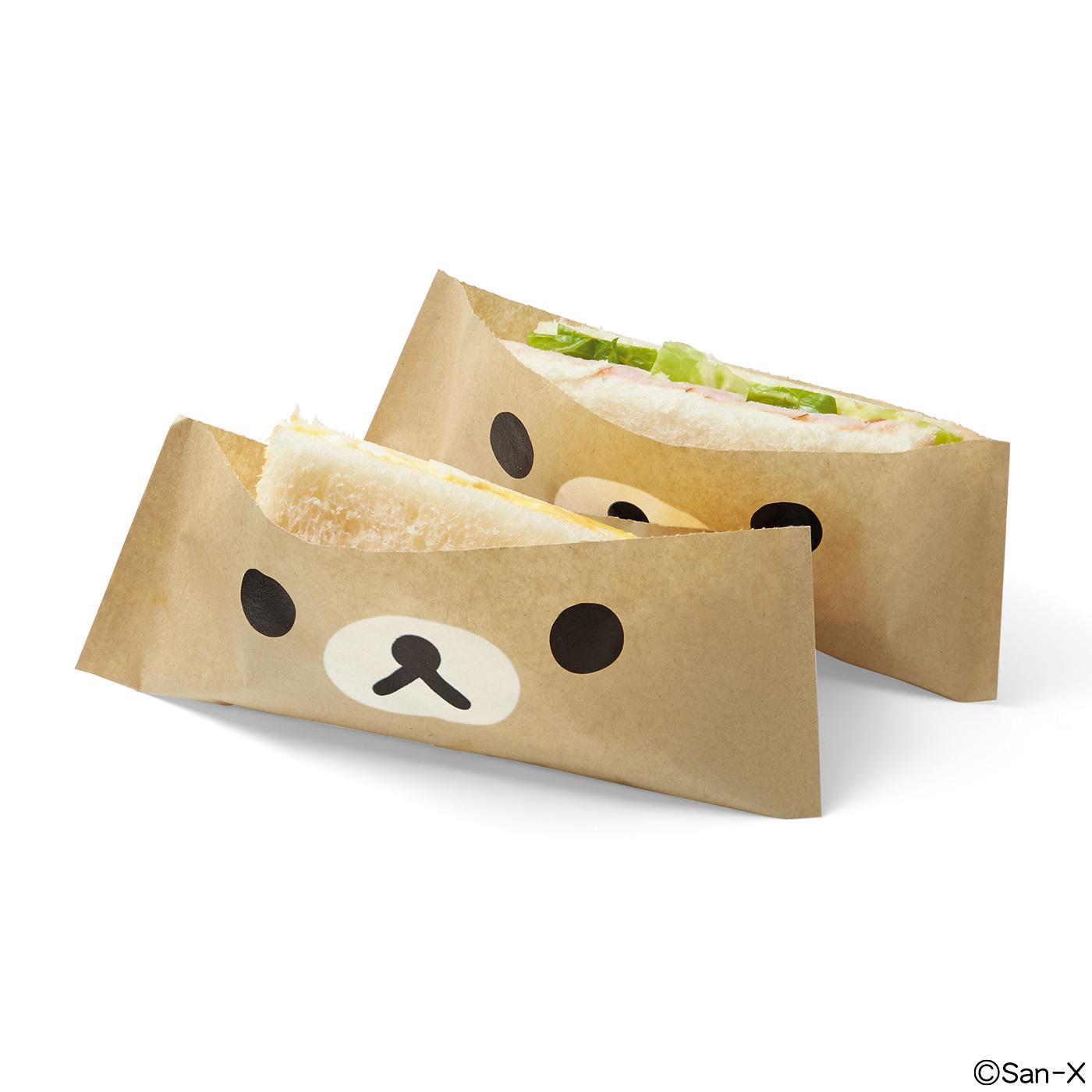 カットしやすいミシン目入り。水分や油分がしみ出しにくい耐油紙だから、サンドイッチにもアレンジOK。