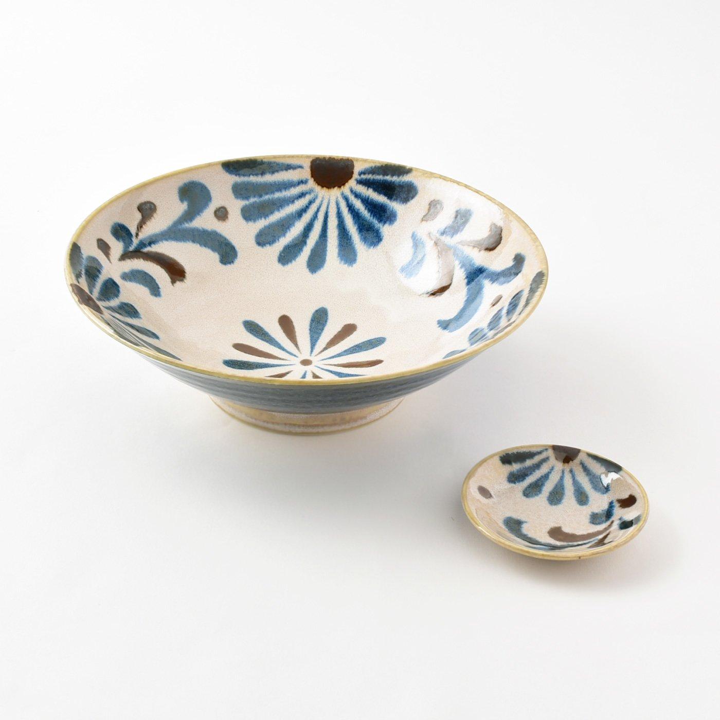 食卓が晴れやかになる海と花のうつわ 高台付き八寸麺鉢と小皿の会(5回予約)