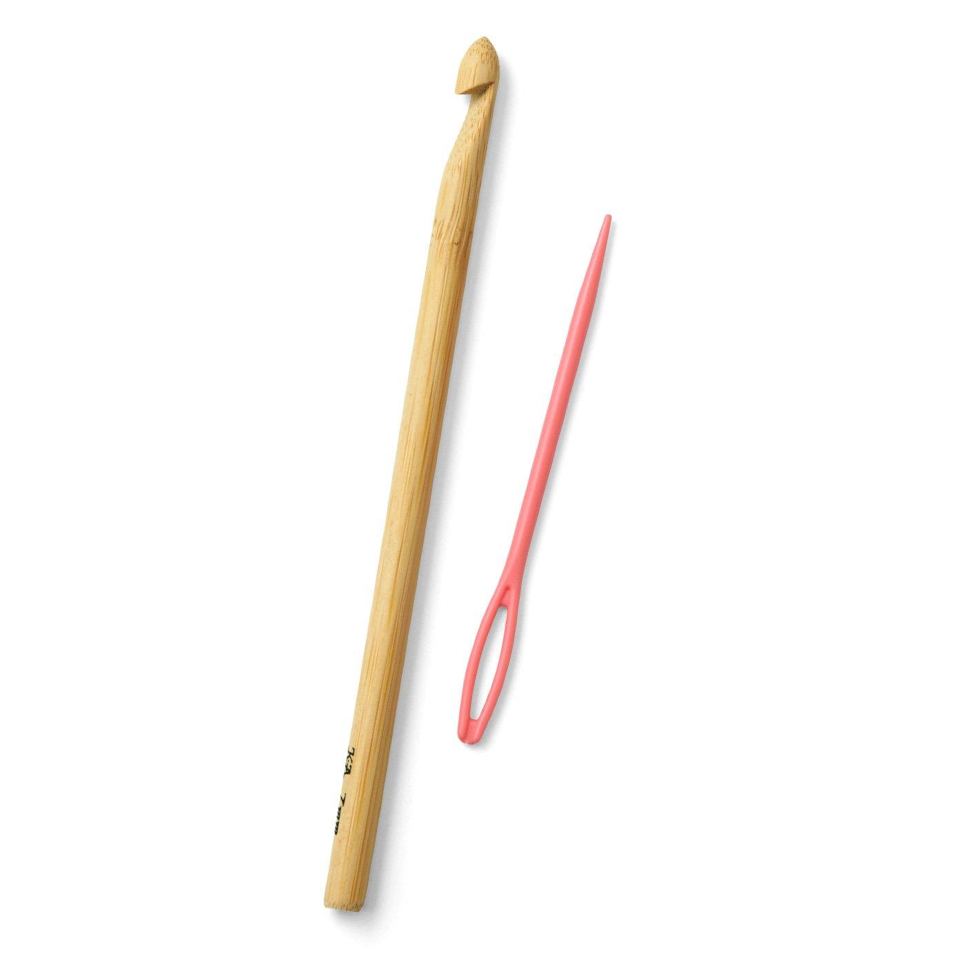 竹かぎ針7mmととじ針セット