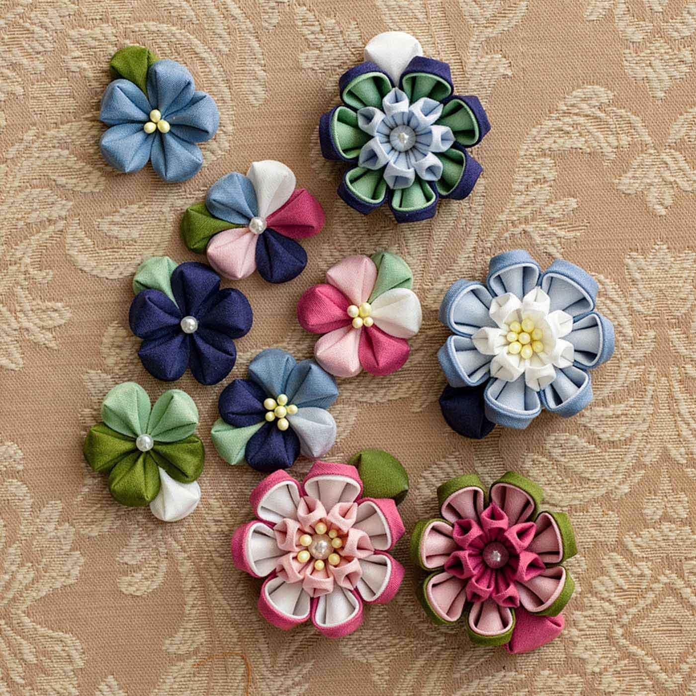 色の重なりが花咲く つまみ細工用カット済みコットン布の会