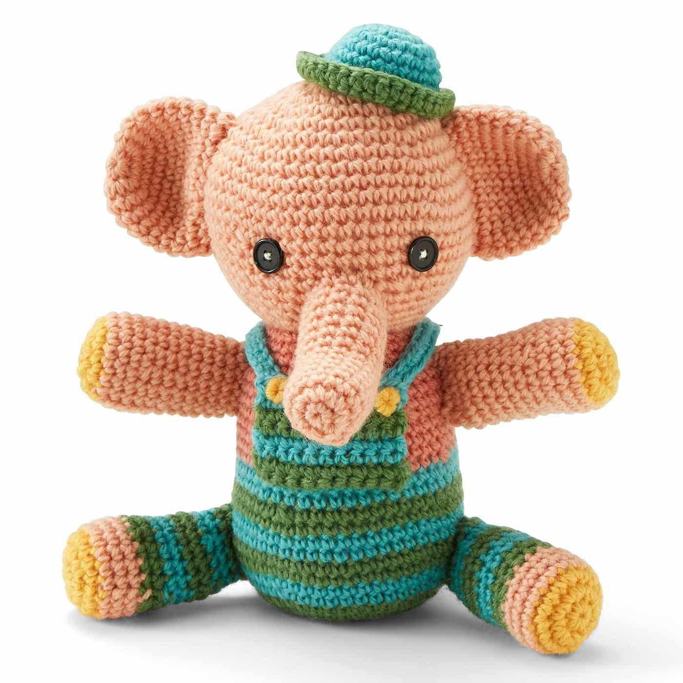 ハッピートイズ すくすくゾウさん 編みぐるみ編み図セット
