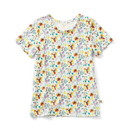 CNLforPBP インドのこどもが描いた総柄Tシャツの会〈レディース〉