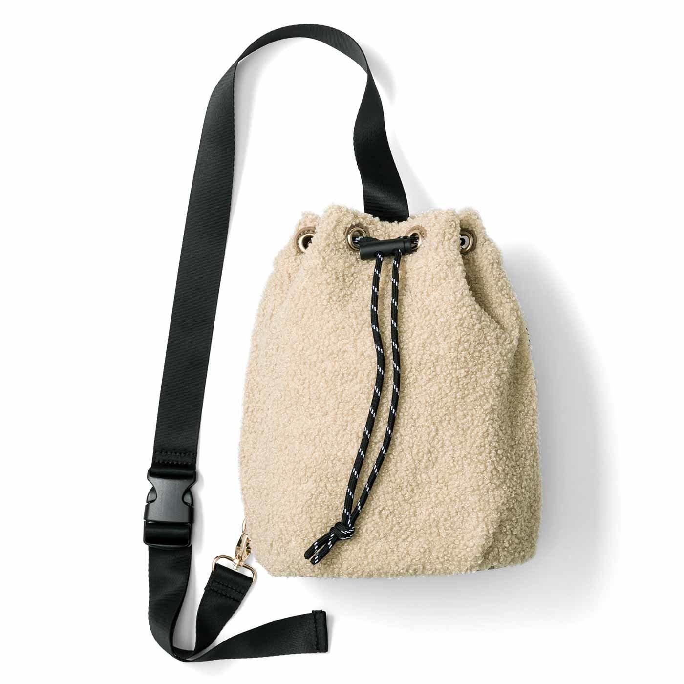 UP.de やさしくフィットしてサッと取り出せる プードルみたいな巾着(きんちゃく)ボディーバッグ
