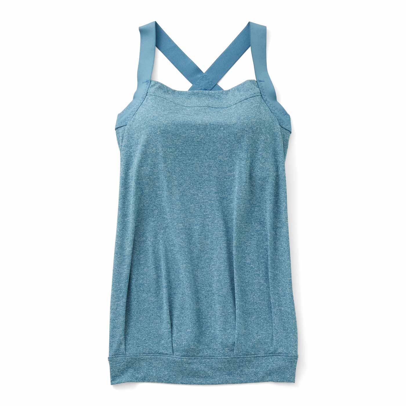 肩甲骨をらくらく意識で背筋ピン! ノンワイヤーヨガ気分ブラインナー〈吸汗速乾/スマート〉の会