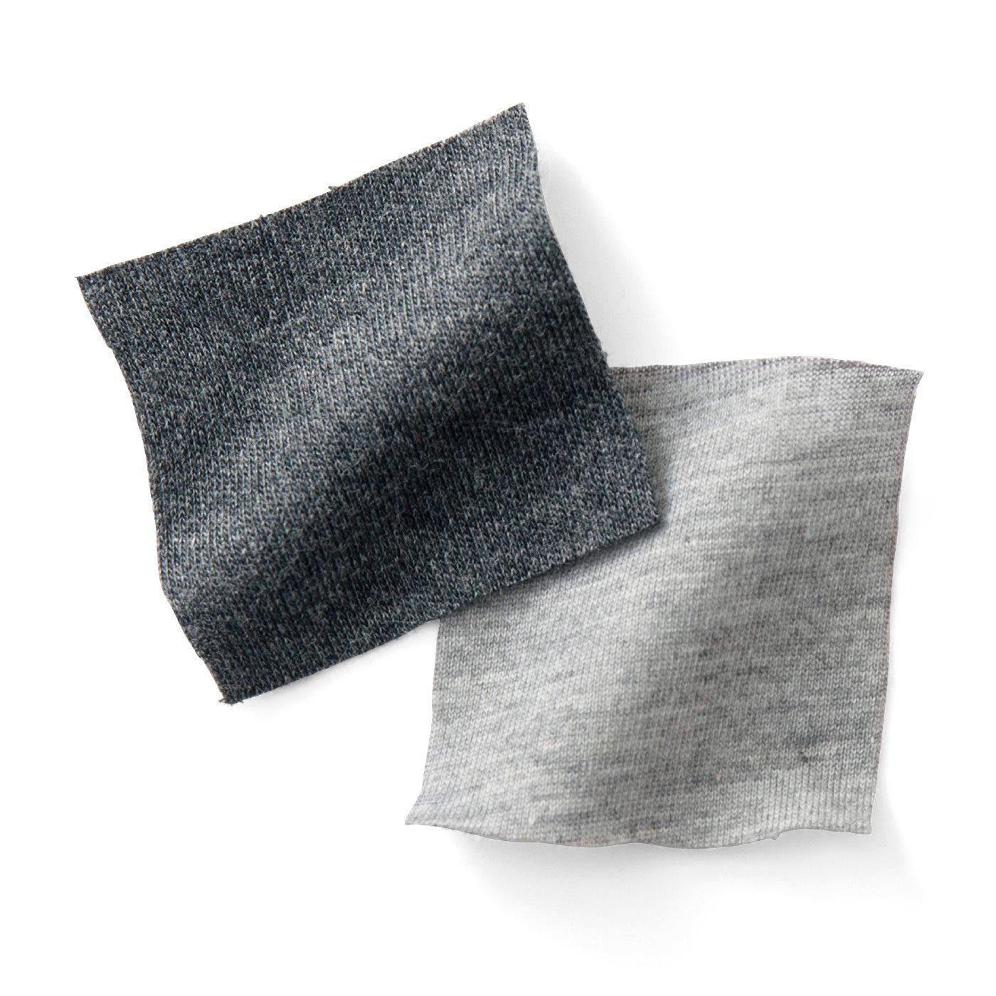 左:【スカーチョ】カットソー素材でしわになりにくく、肌当たりやわらか。 右:【インナーパンツ】はき心地よい天じく。
