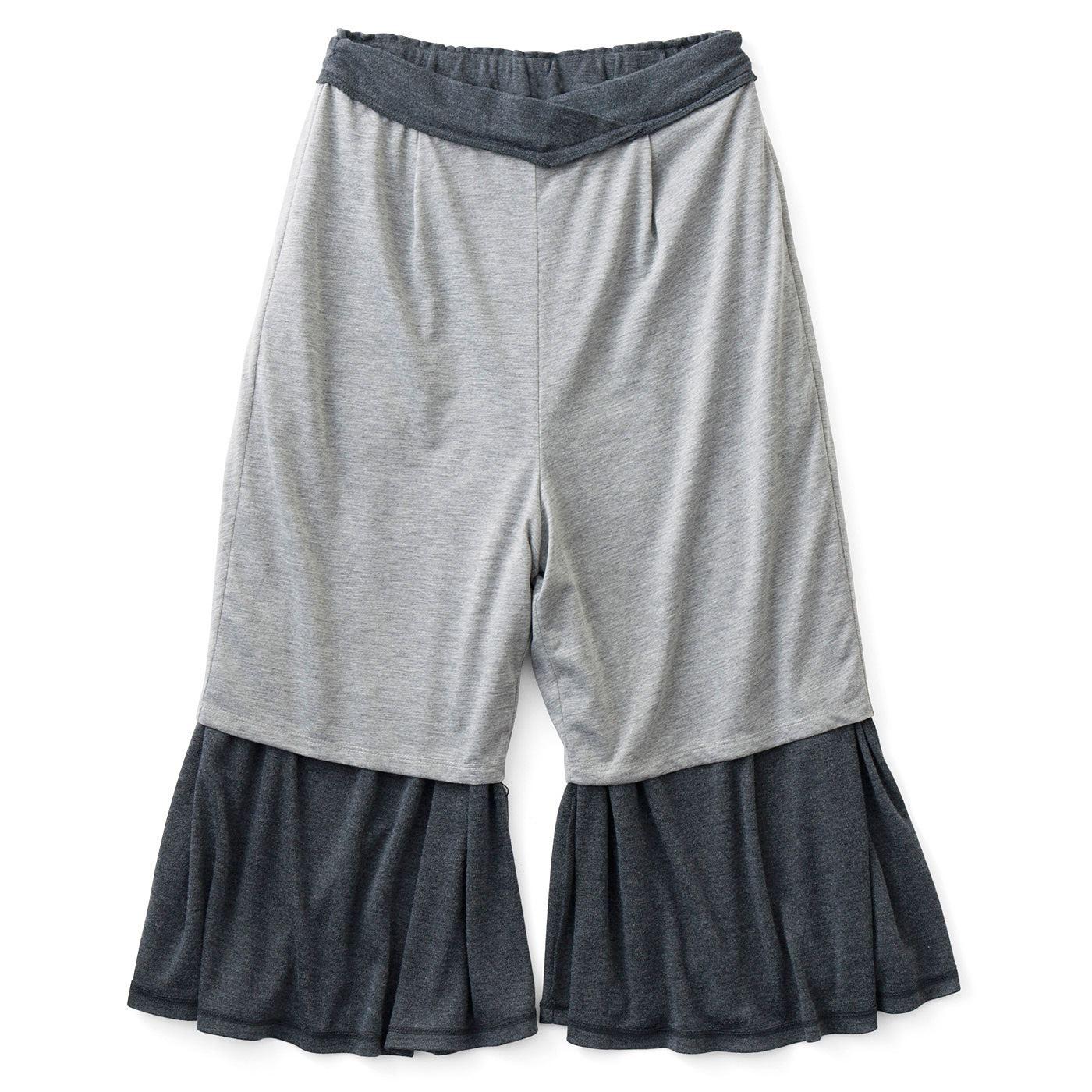 【インナーパンツ付き】杢(もく)グレーの綿混素材のインナーパンツ付きで着心地よく、快適。
