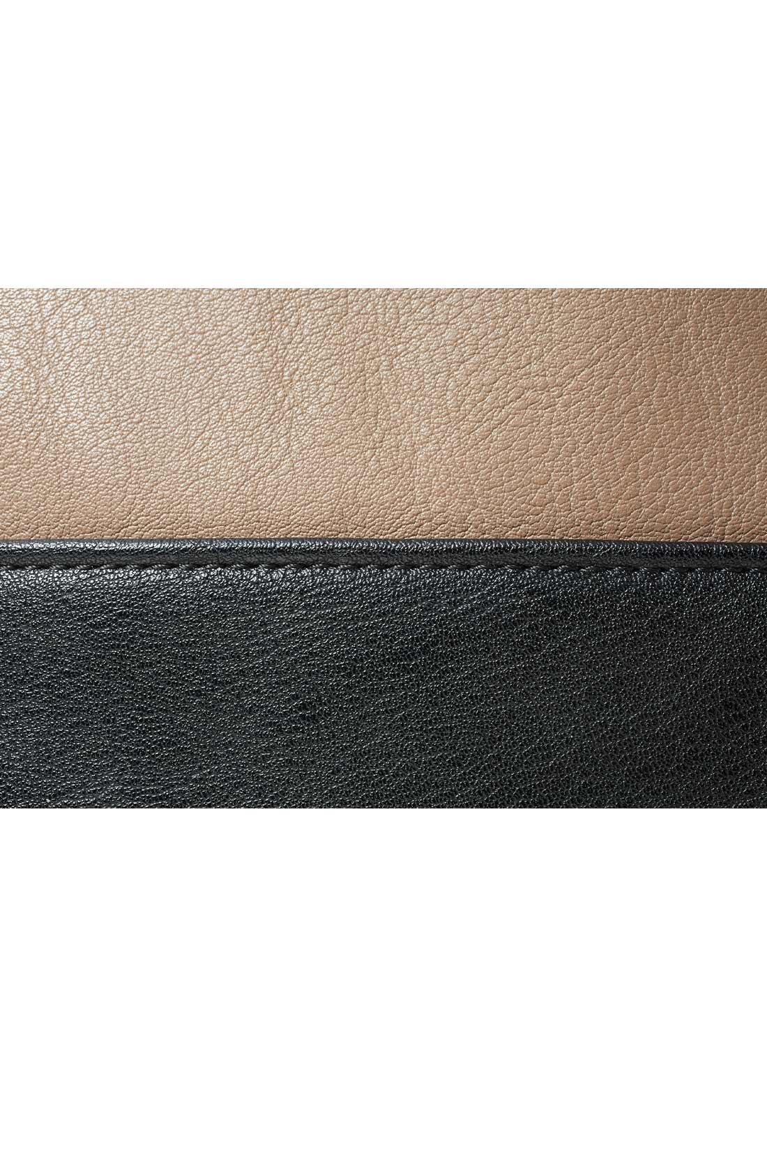 本革見えするきれいな印象の合成皮革。