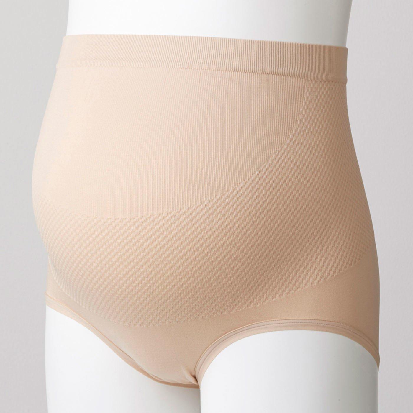 犬印本舗 無縫製 ストレスフリー パンツ 妊婦帯 〈ベージュ〉