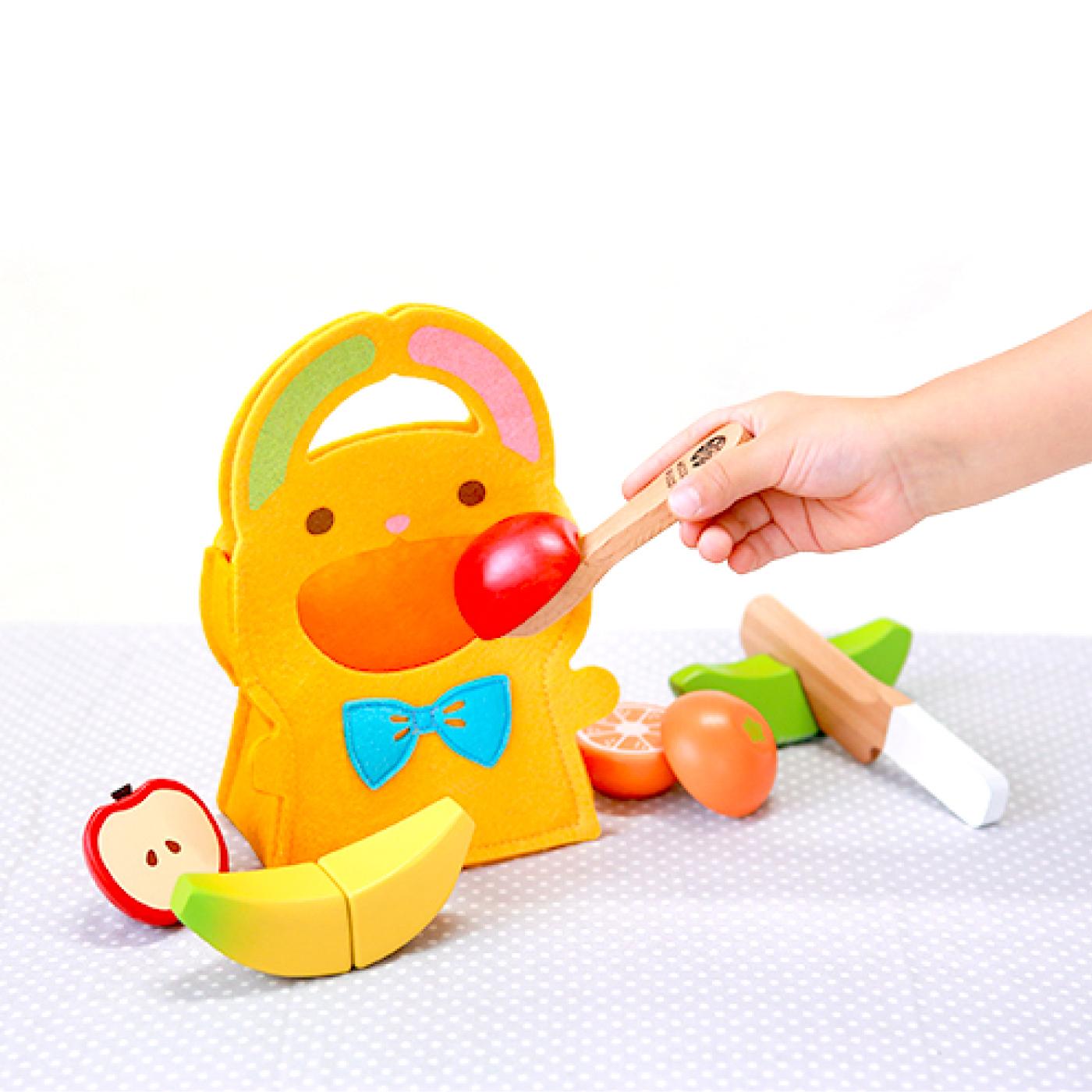 フェリシモ ウッディプッディ 木のおもちゃ はじめての食育 もぐもぐフルーツセット