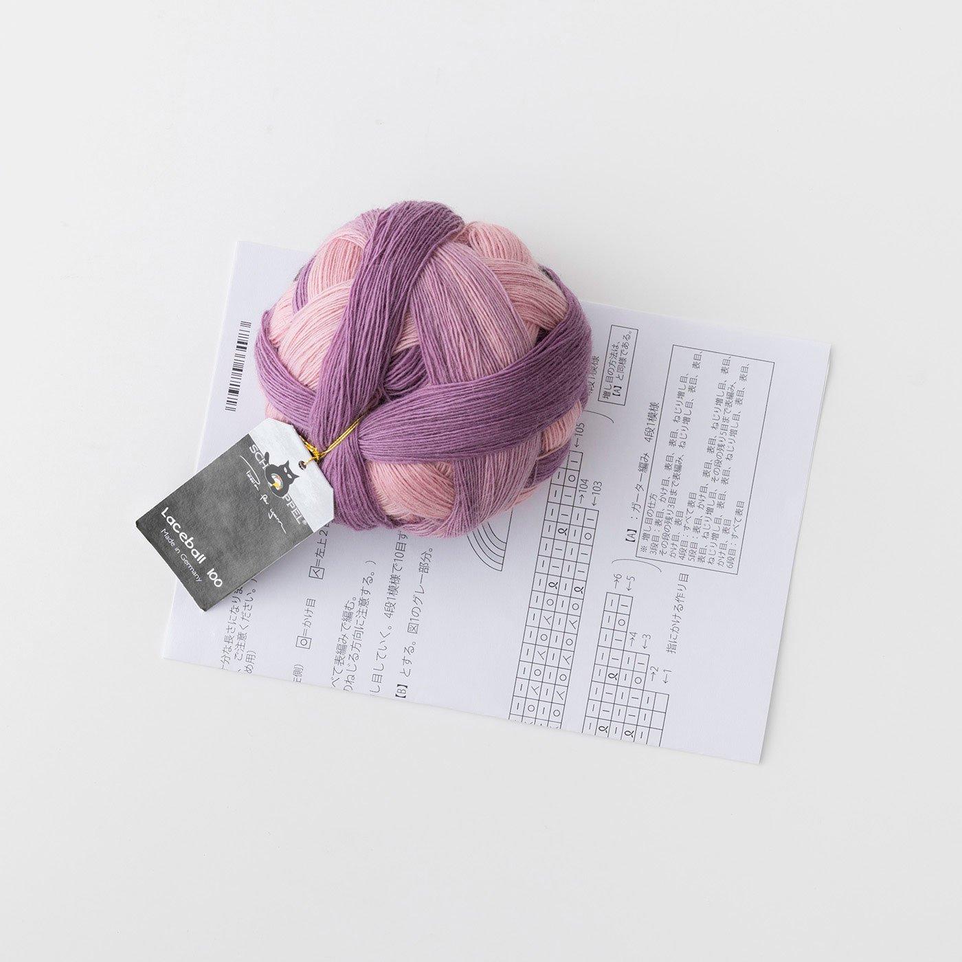 ウールの繊細な風合いと色のグラデーション ショッペル Lace ball 100