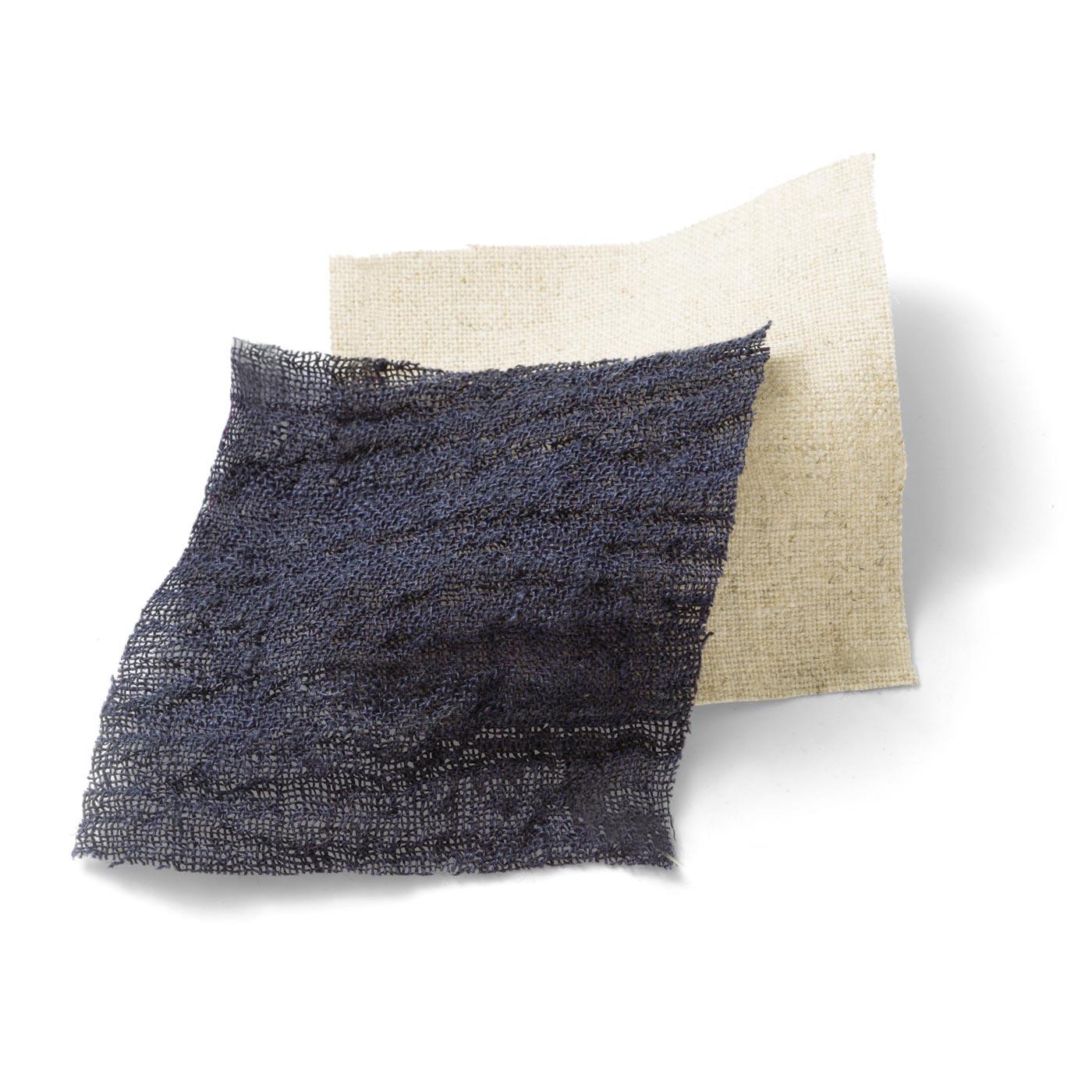 〈ネイビーブルー〉見た目も涼やかな通気性にすぐれた綿麻素材。