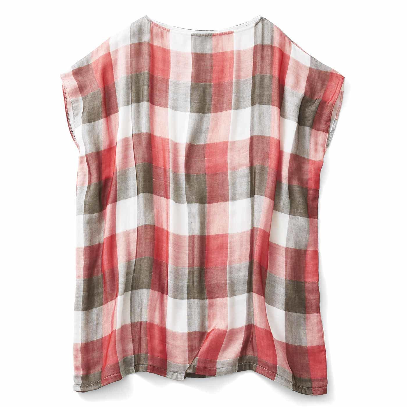 お風呂上がりから寝るまでさわやか 4重ガーゼが心地いい 着るバスタオル〈ブロックチェック〉の会