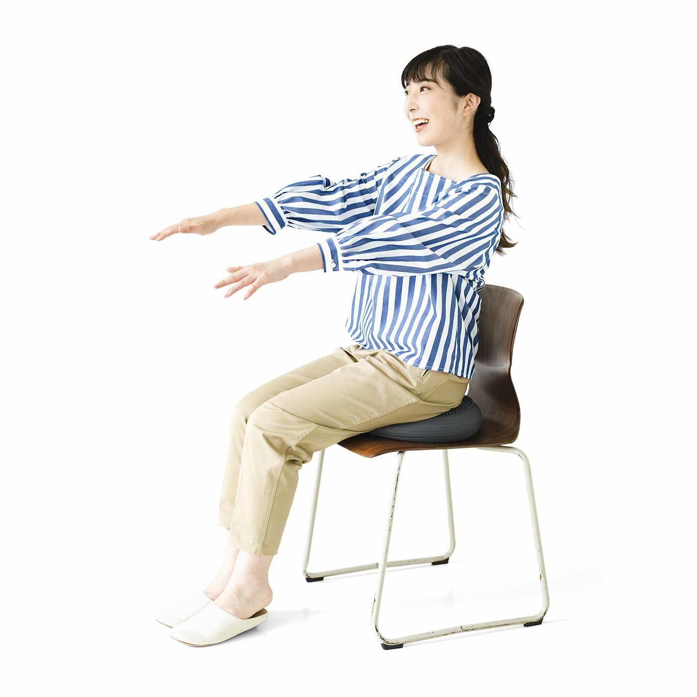 オフィスでもおうちでも 座るだけ簡単エクサ! タニタのバランスクッション