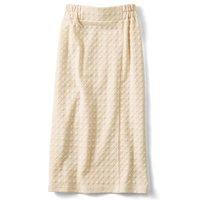 <フェリシモ>きれいIラインのカットソータイトスカート〈クリーム〉【送料無料】