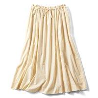 <フェリシモ>たっぷりボリュームのかろやかスカート〈クリーム〉【送料無料】