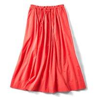 <フェリシモ>たっぷりボリュームのかろやかスカート〈オレンジ〉【送料無料】