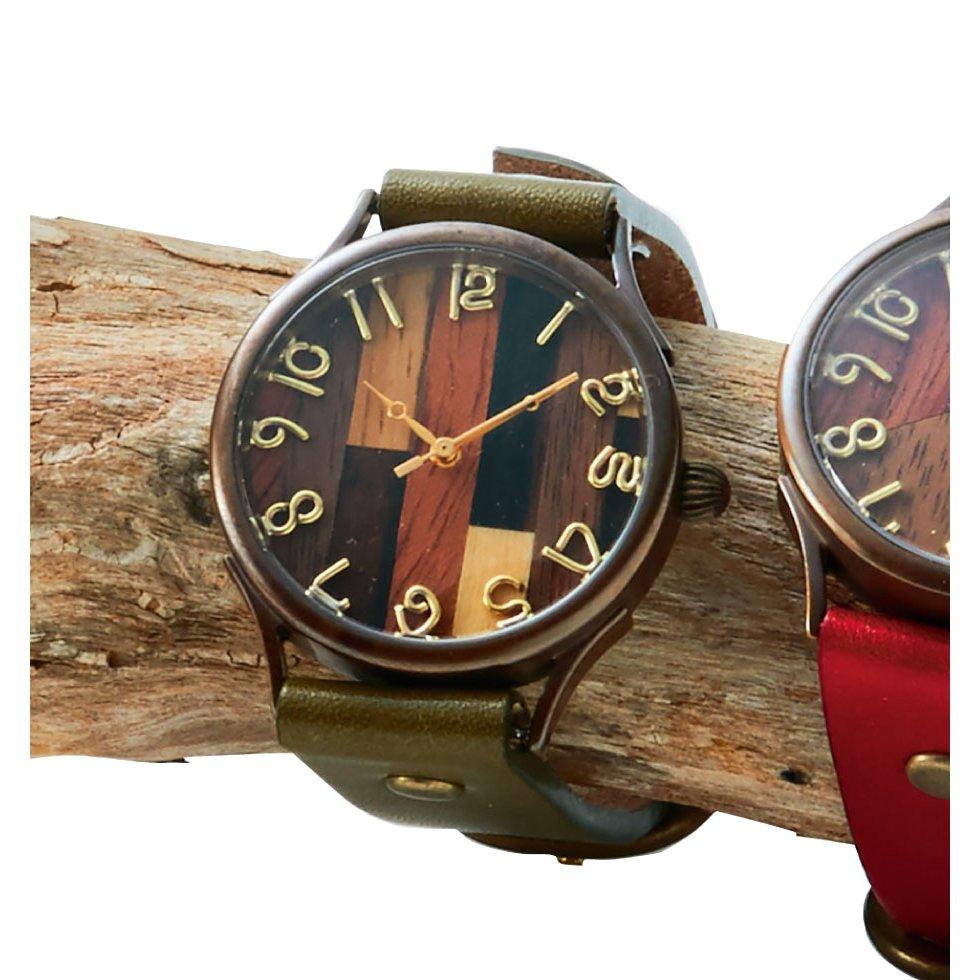 vie ハンドメイド腕時計(オリーブ)