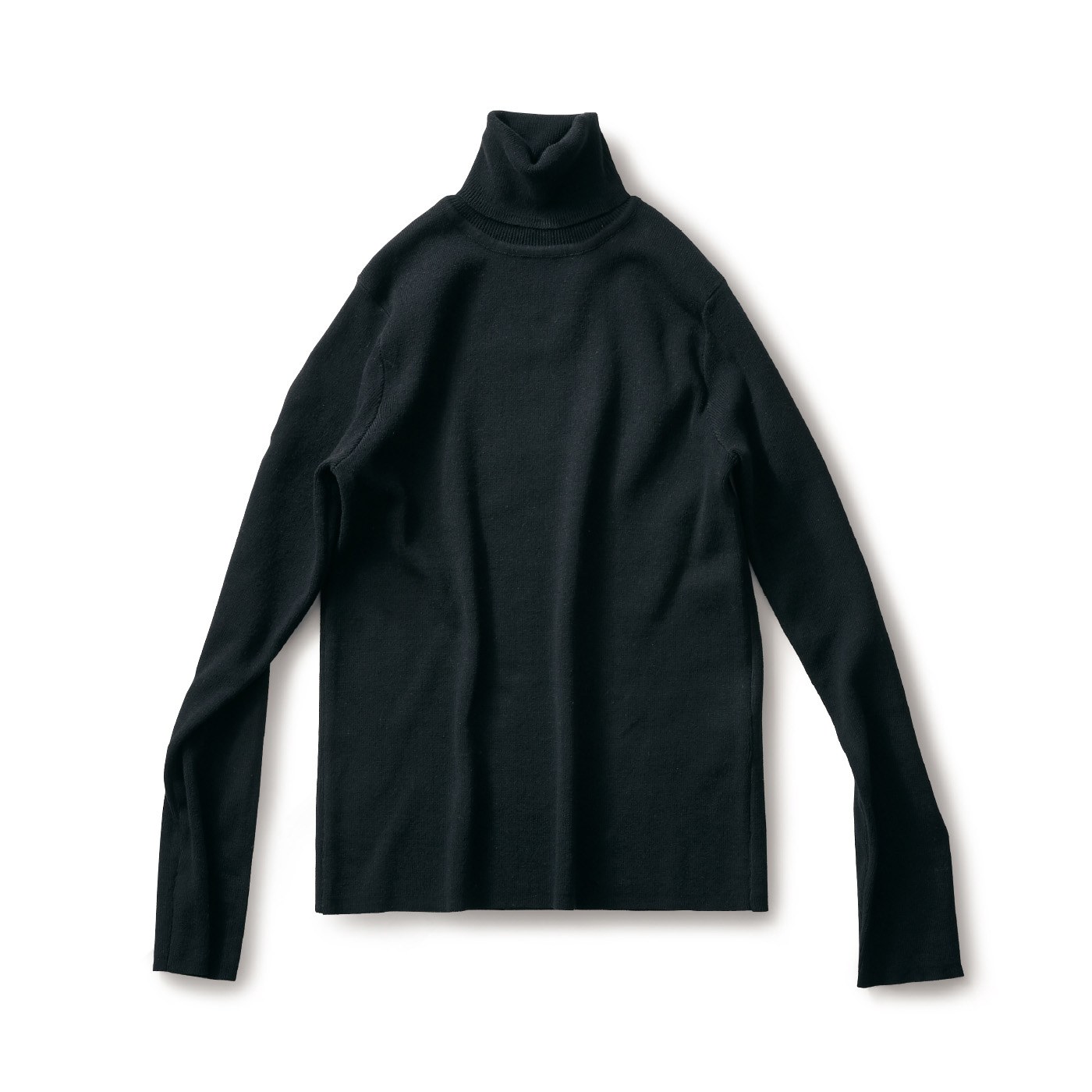 サニークラウズ 綿糸で作ったタートルセーター〈レディース〉黒