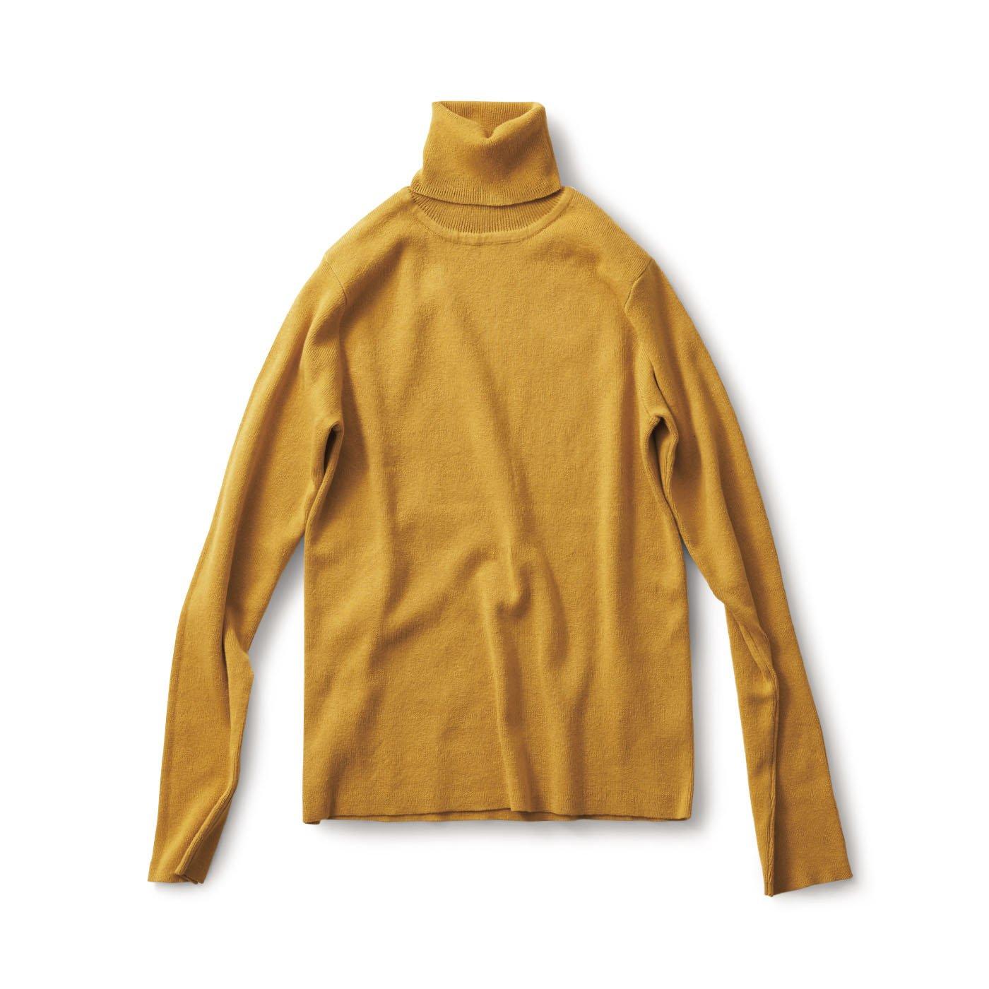 サニークラウズ 綿糸で作ったタートルセーター〈レディース〉山吹
