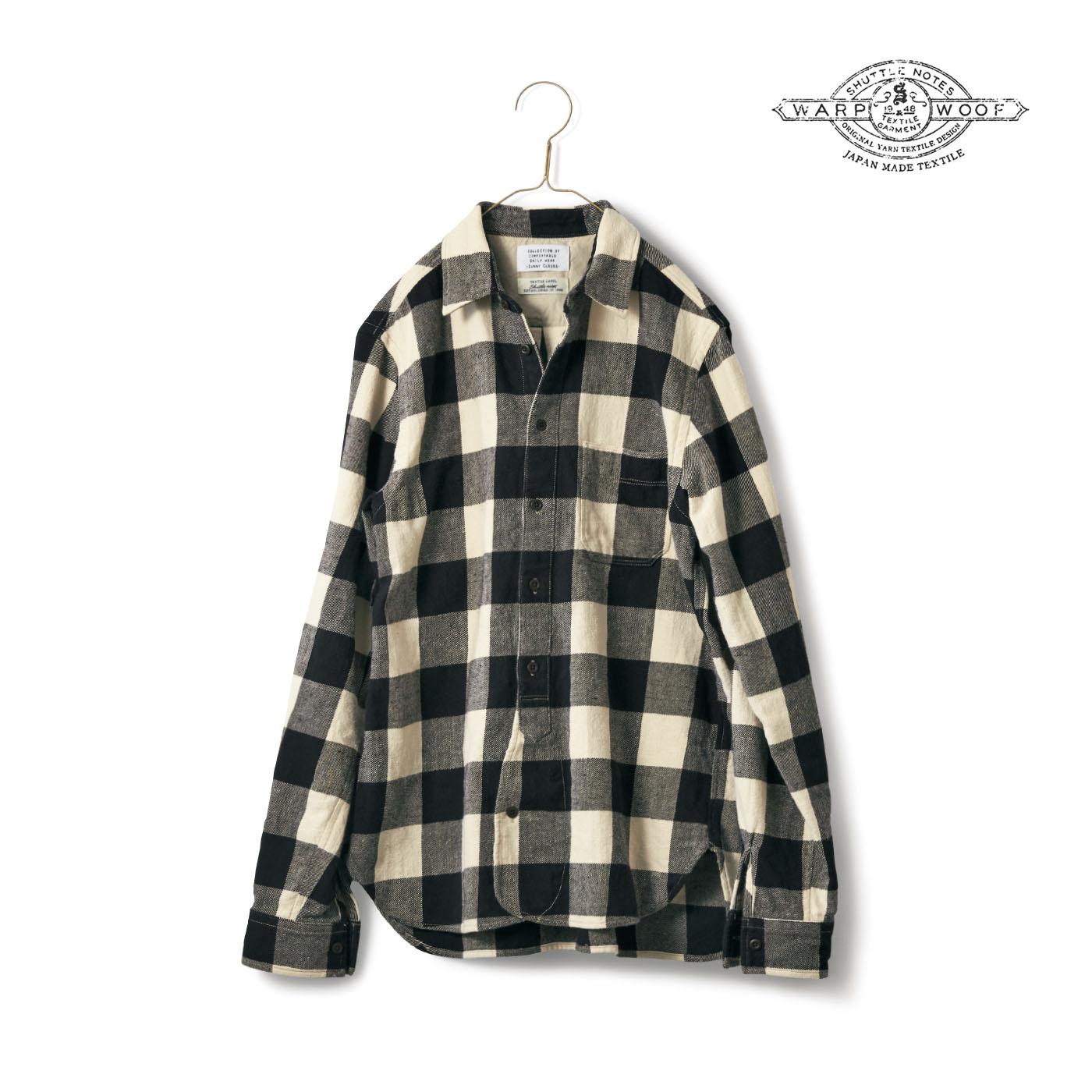 フェリシモ サニークラウズ feat. Shuttle Notes ブロックチェックのシャツ〈メンズ〉