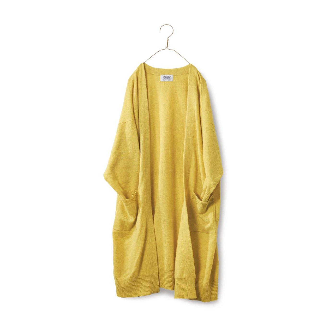 サニークラウズ ロングロングカーディガン〈レディース〉黄色