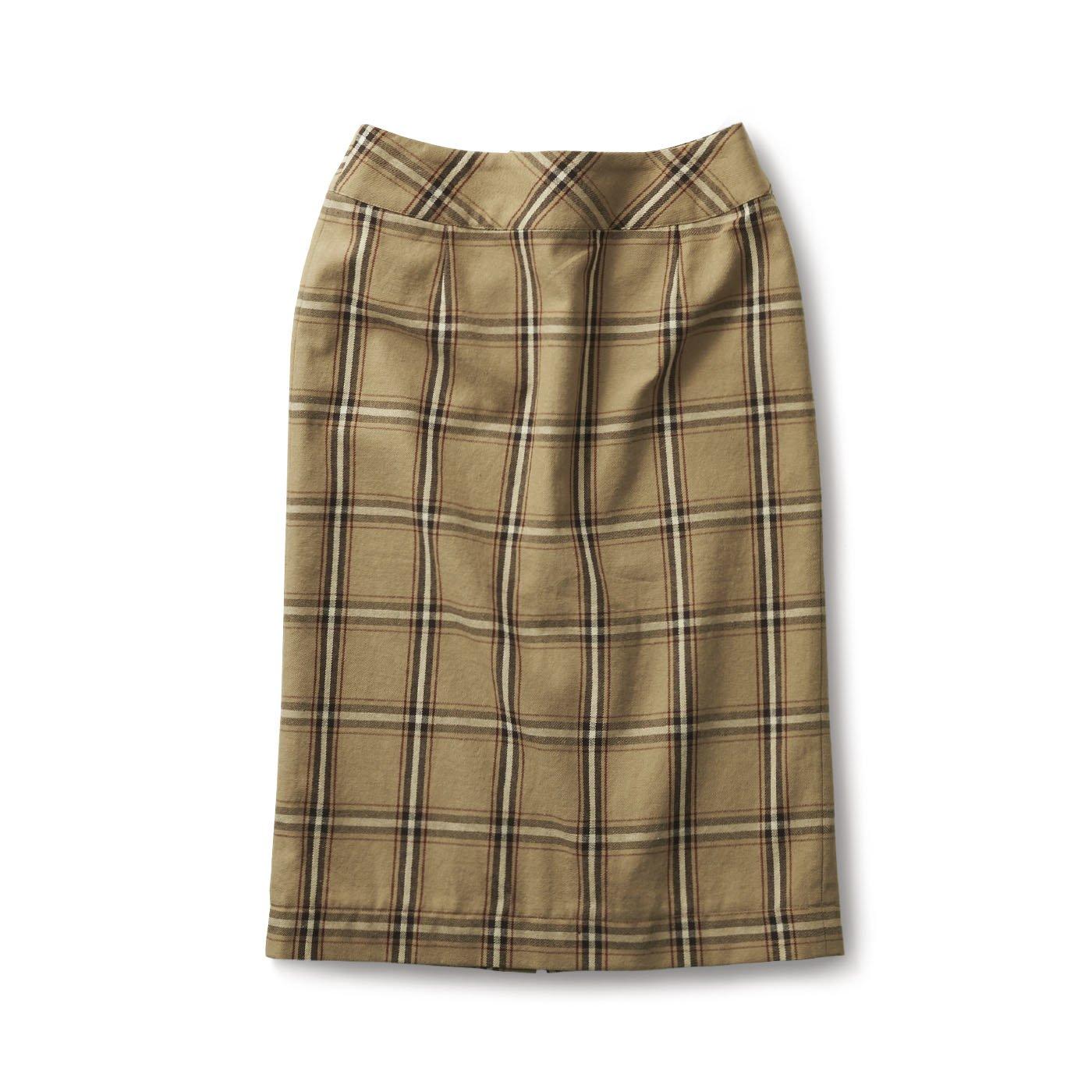 サニークラウズ チェックなタイトスカート〈レディース〉