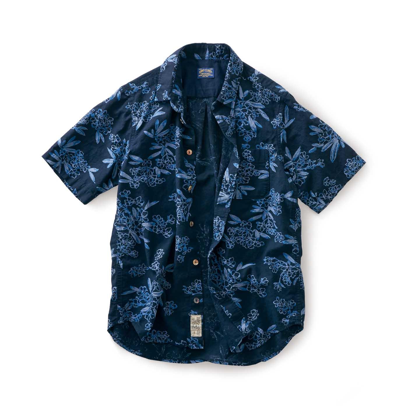フェリシモ サニークラウズ 浴衣シャツ〈メンズ〉紺