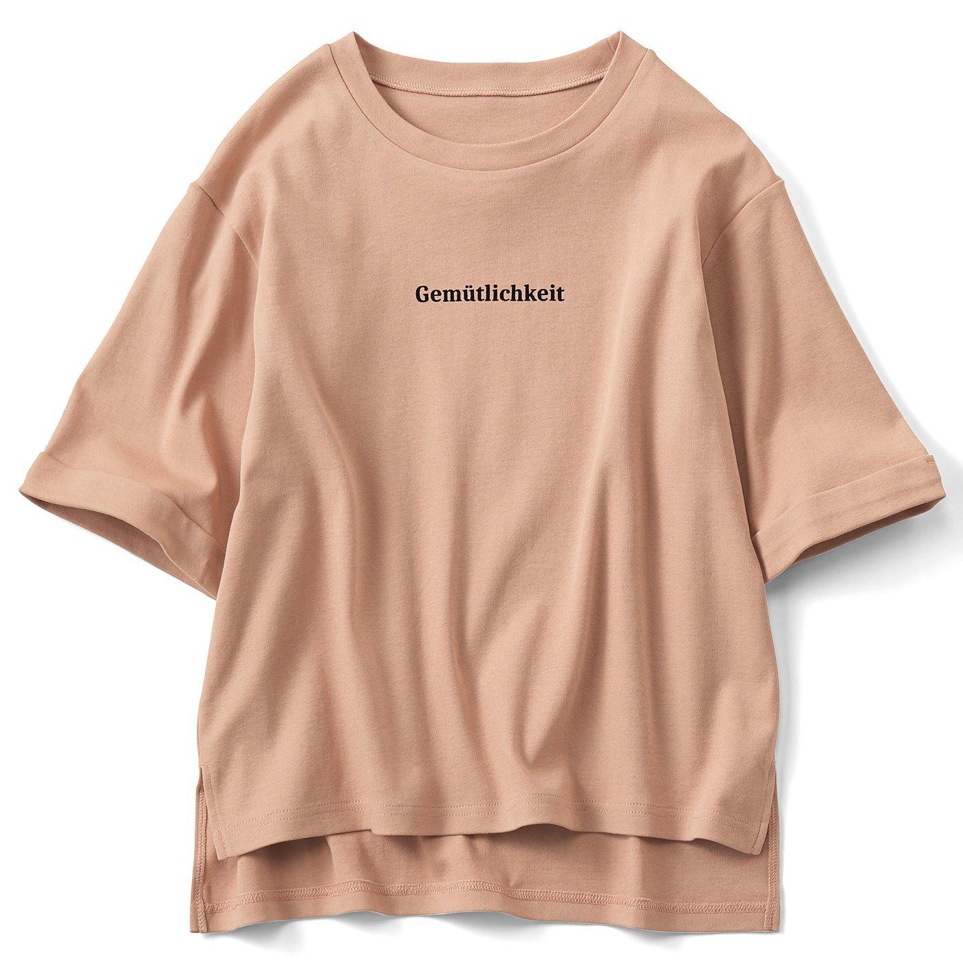 リブ イン コンフォート コットン100% さらっとした肌ざわりの五分袖ロゴTシャツの会