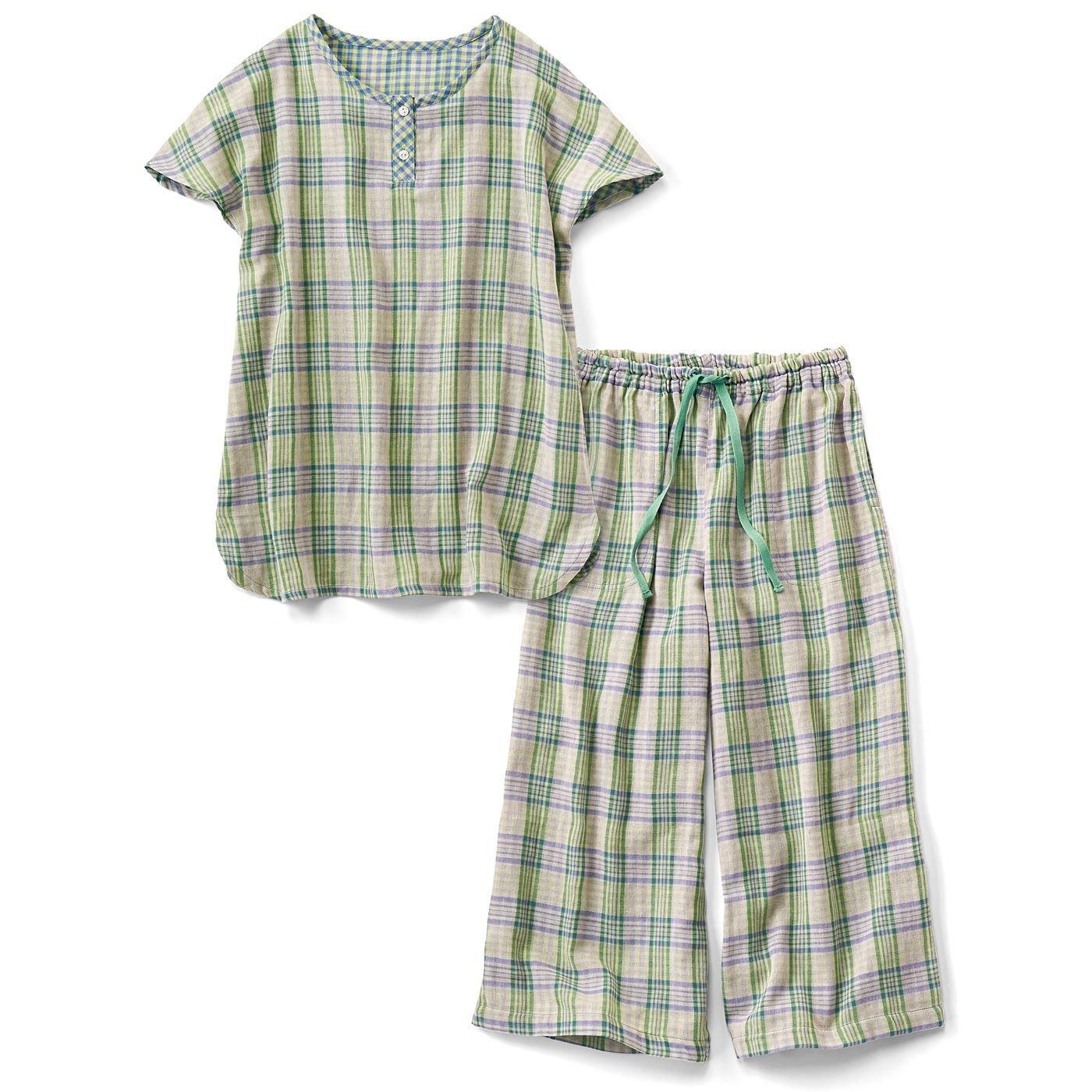 リブ イン コンフォート 暑い日のおうち時間を快適に過ごせる ふわふわダブルガーゼのちび袖パジャマの会