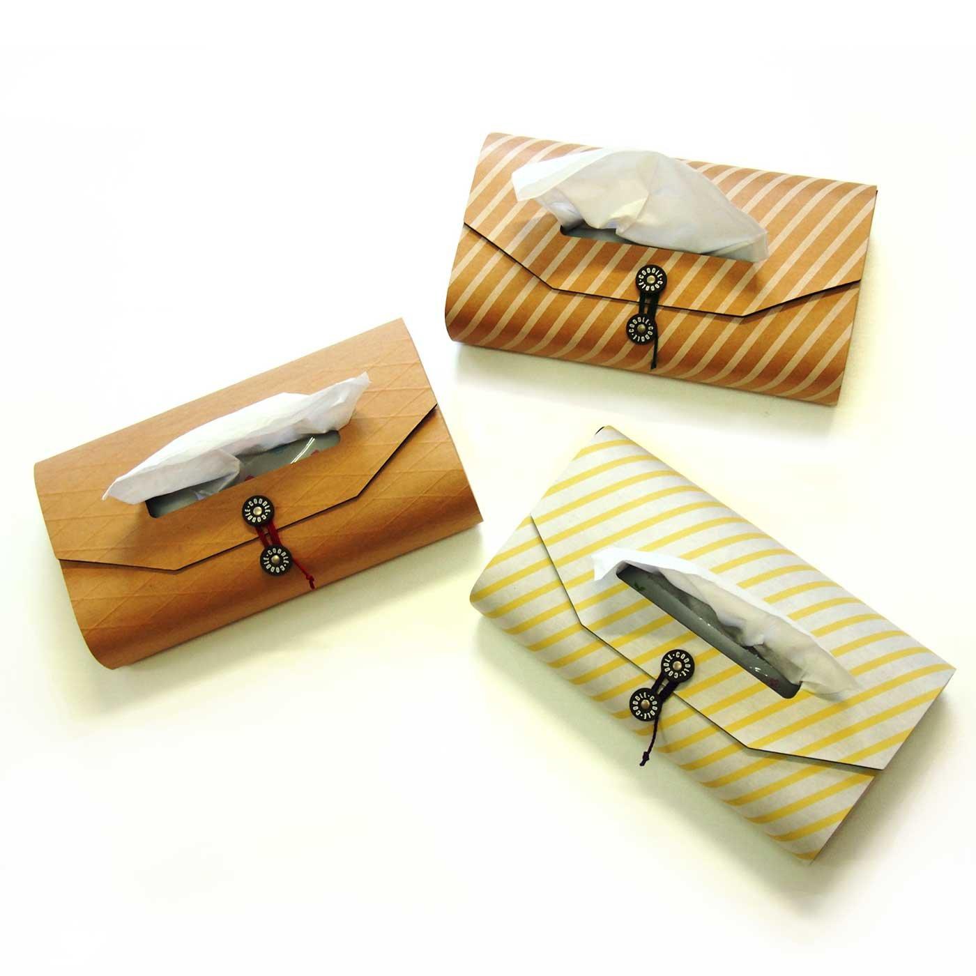 CODDLE+PAPER クラッシックな封筒風のティッシュケース