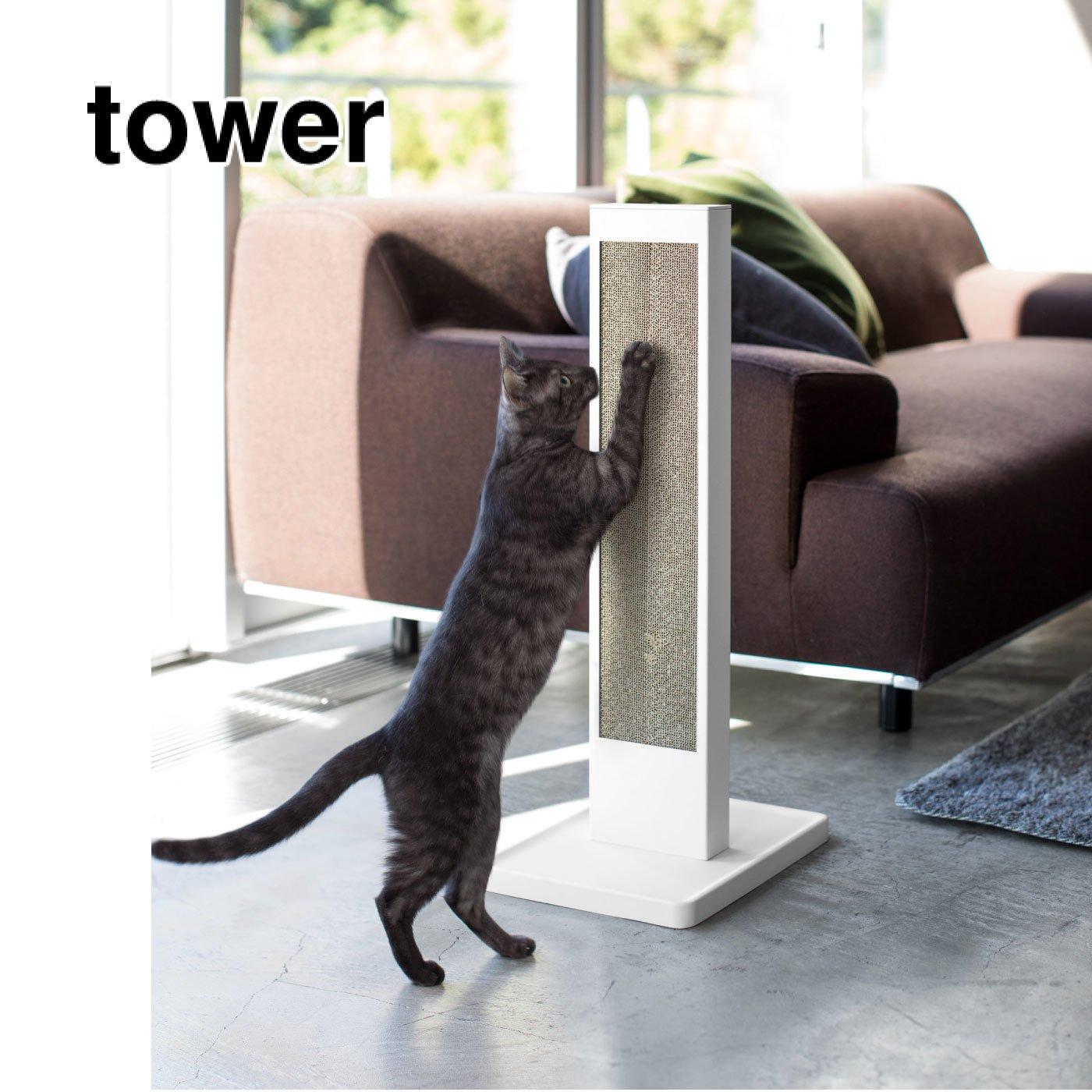 tower ネコの爪とぎスタンドセット
