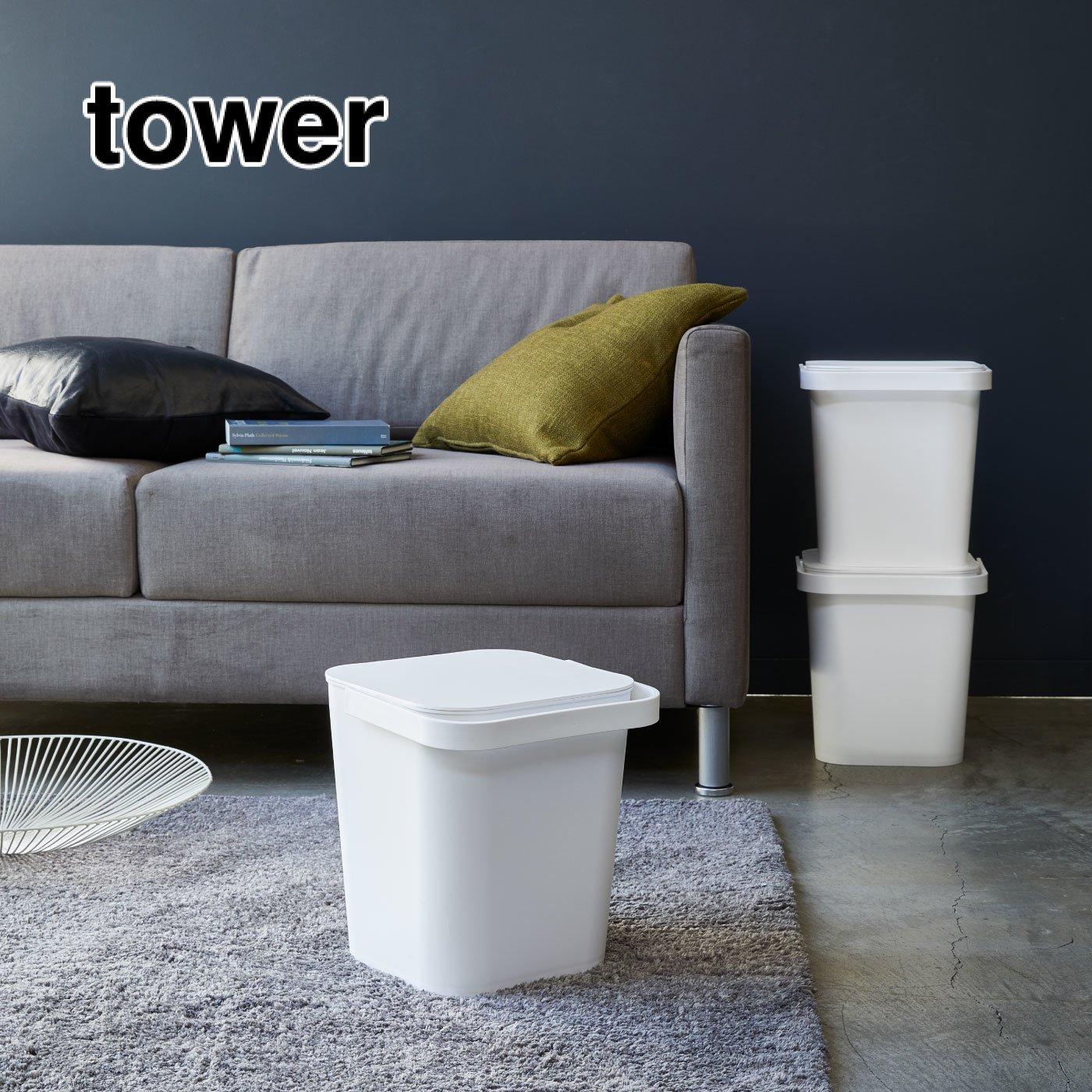 tower ふた付きバケツ 12L