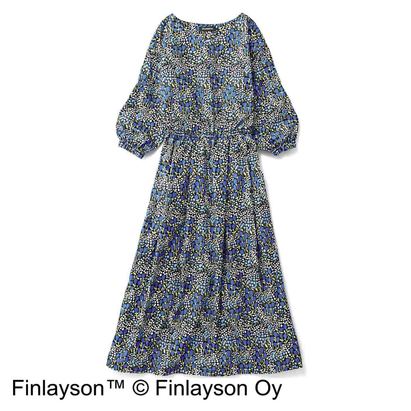 【3~10日でお届け】フィンレイソン ギャザーたっぷり ワンピース〈フイスケ〉