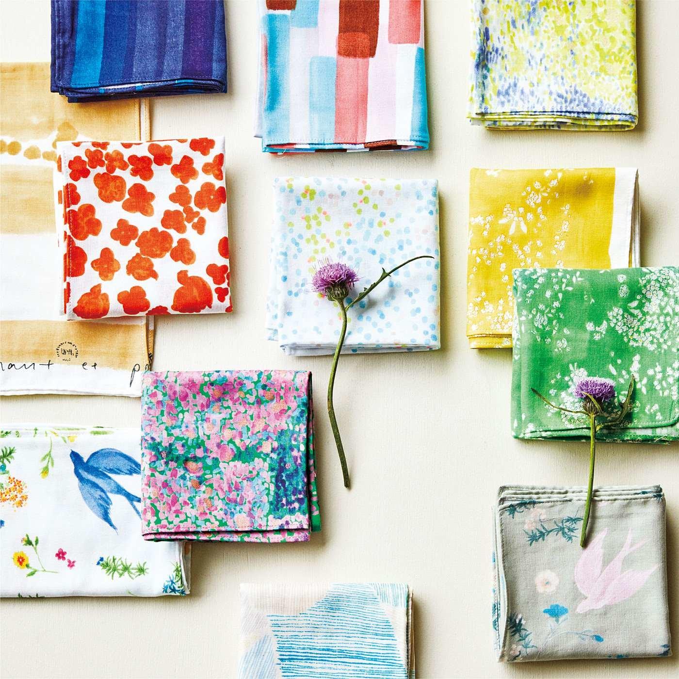 テキスタイルデザイナー 伊藤 尚美さんと作った 今日の色を選ぶ naniIRO(ナニイロ) コットンのふんわり大判ハンカチの会