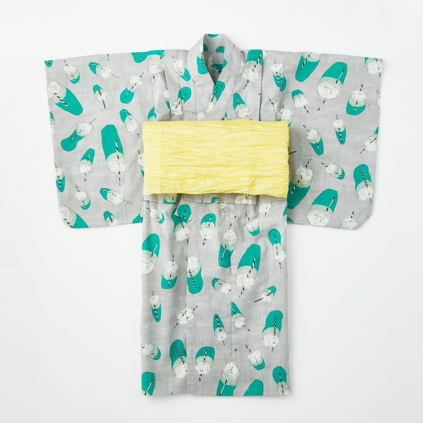 Subikiawa食器店さんとつくった クリームソーダ柄の浴衣(ゆかた)