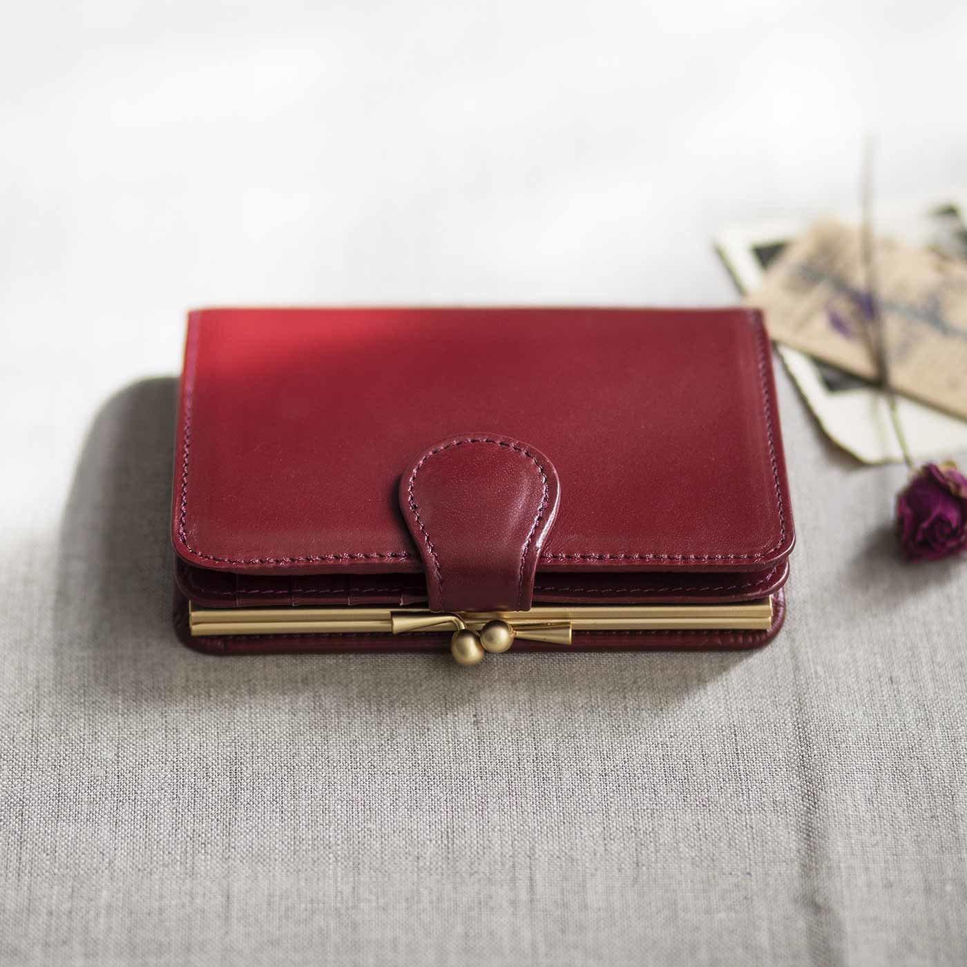 職人が誂えた 仕草華やぐ 大人の馬革折り財布〈薔薇色〉[本革 財布:日本製]