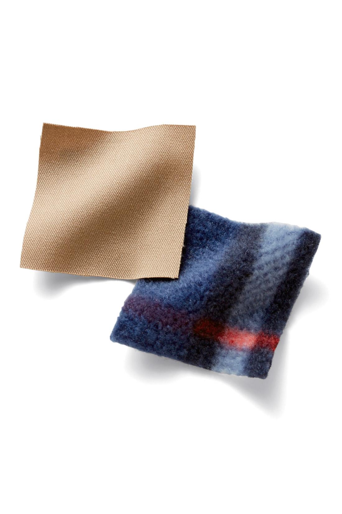 ボディーラインがひびきにくいハリのあるコットン素材で、キレイなシルエットを出しました。身ごろと袖裏は、やわらかなフリースを裏打ち。袖の裏地はすべりのいい素材。インにいろいろ重ねても着ぶくれ感がなく、秋いちばんにもぴったりの軽やかさ。 ※お届けするカラーとは異なります。